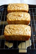 Oatmeal Quick Bread with Scotch-Maple Glaze
