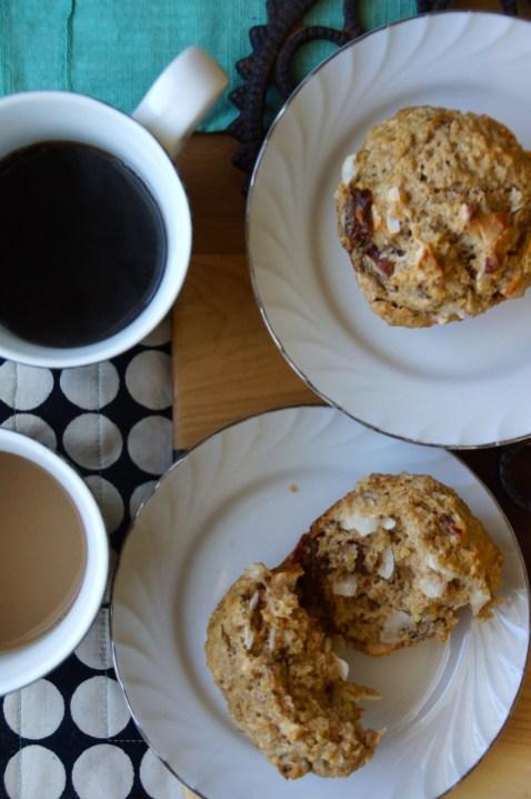 Date, Coconut & Pecan Quinoa Muffins