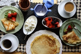 Anise & Sesame Seed Crepes