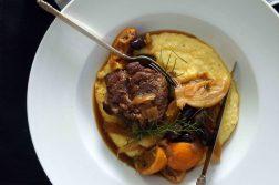 Braised Pork Shoulder with Fennel, Oranges & Olives