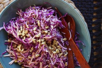 Cabbage and Apple Slaw with Walnuts
