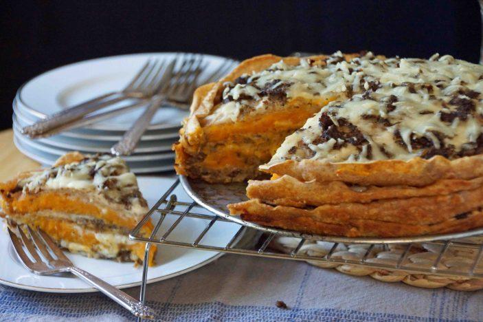 Mushroom and Squash Crepe Lasagna
