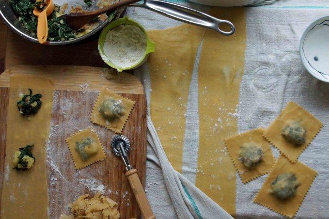 Swiss Chard & Potato Ravioli