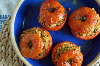 Tuna & Quinoa Stuffed Tomatoes