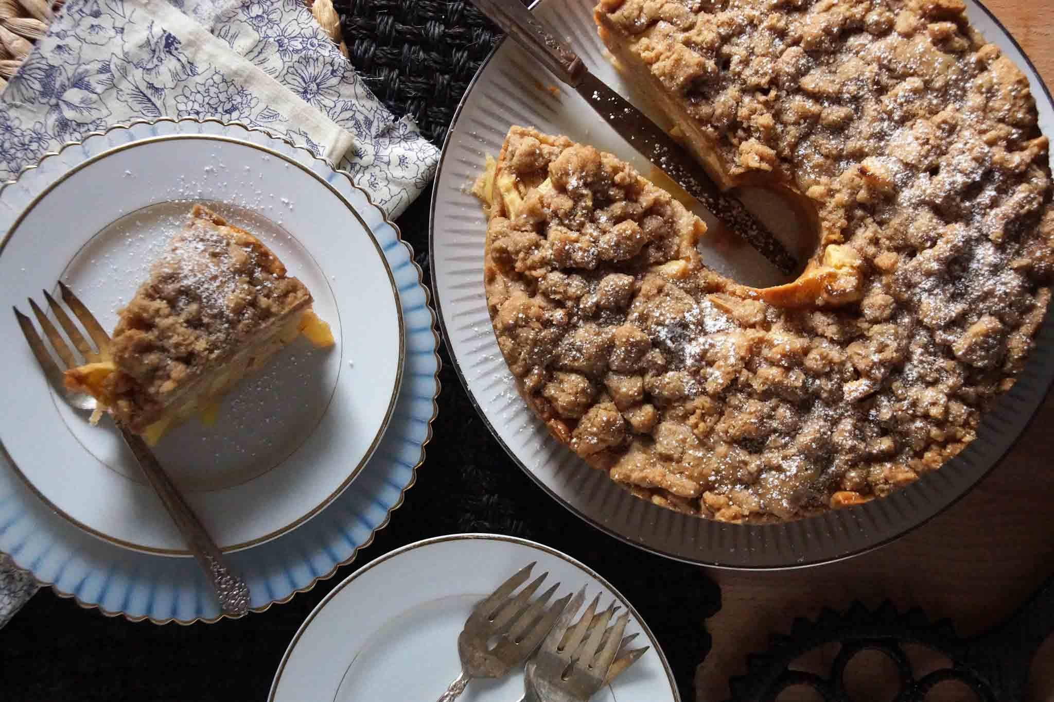 karina39s jewish apple cake recipe with sour cream recipes dishmaps