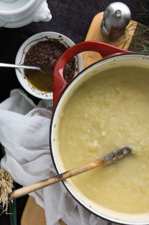 Pureed Potato, Fennel & Leek Soup