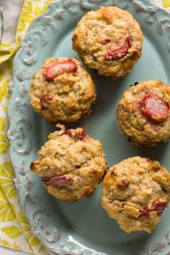 Strawberry-Pecan Oatmeal Muffins