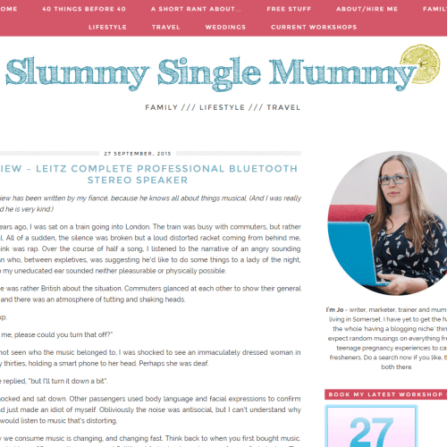 Interview with a blogger: Slummy Single Mummy | Strawberry Squeeze 2