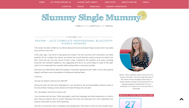 Interview with a blogger: Slummy Single Mummy | UK Lifestyle Blog
