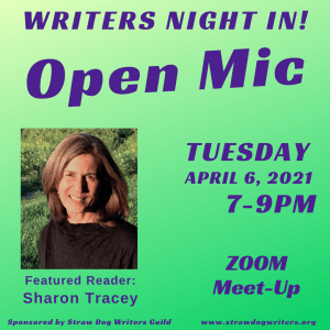 April Writers Night In with Sharon Tracey