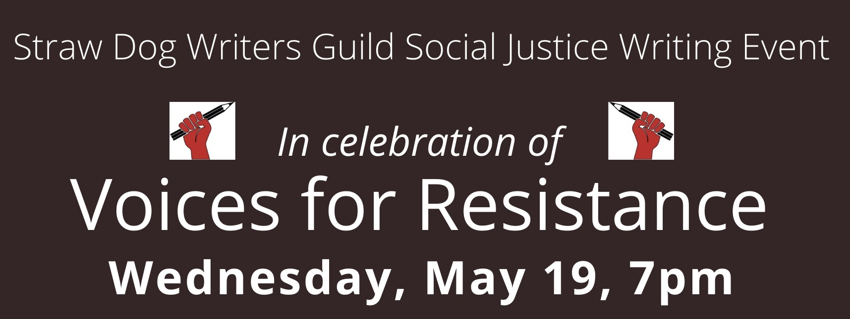 Voices for Resistance event banner
