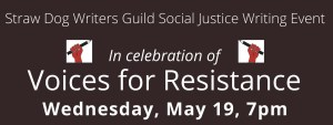 Voices for Resistance online program on May 19