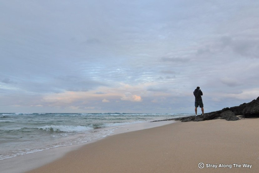 Bevan taking photos at Ponta Mamoli in Mozambique