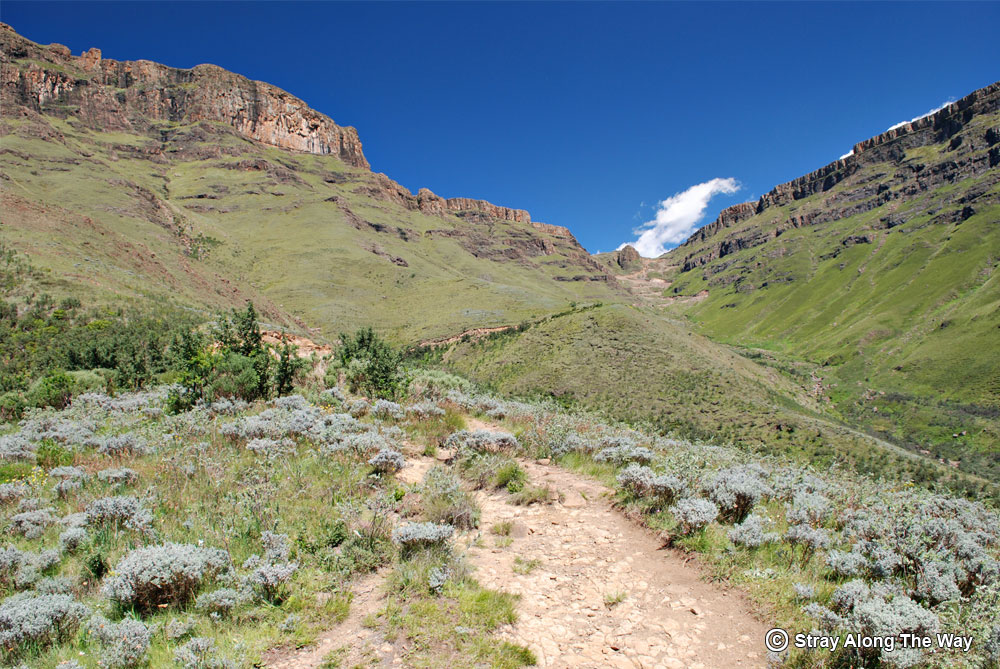 Gully to the top of the Sani Pass.