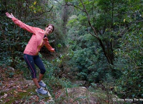 Jill on the uKhozi Trail in the Entumeni Nature Reserve.