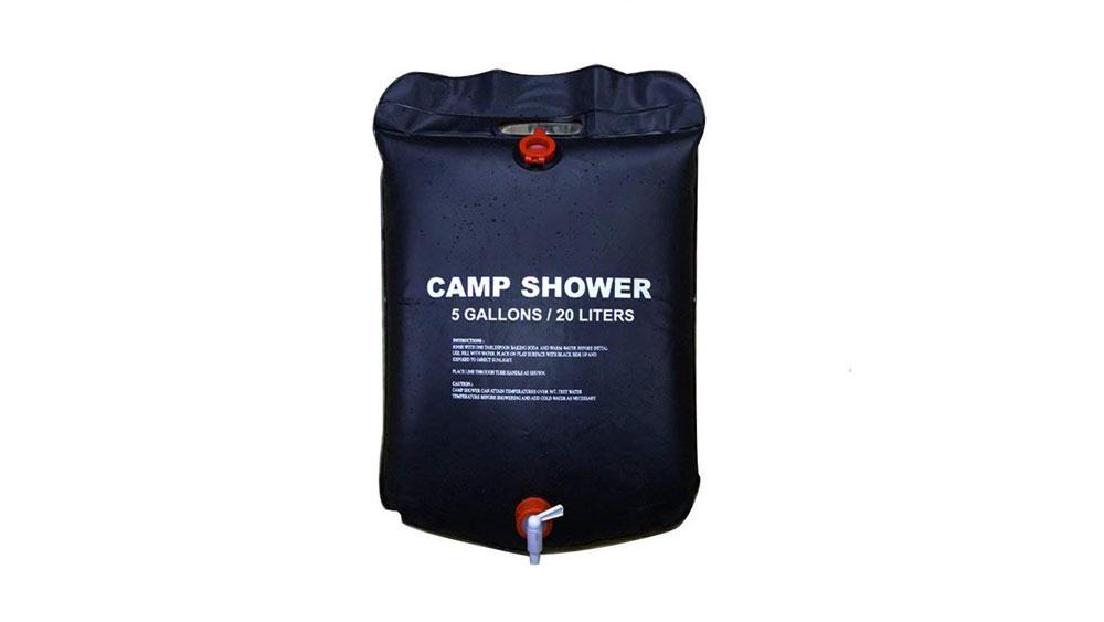 portable solar shower bag