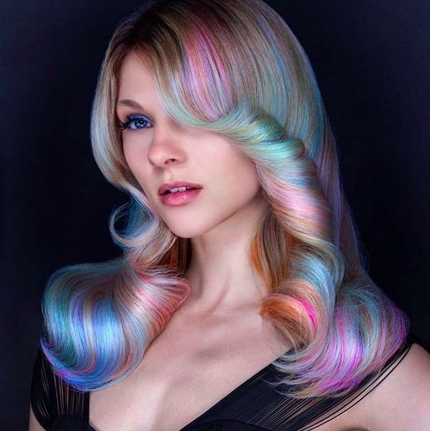 Opal Rainbow Hair Color