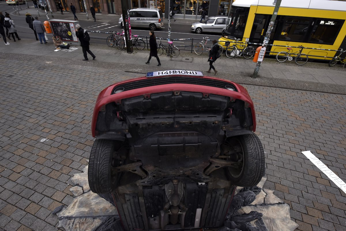 BERLIN, GERMANY - NOVEMBER 15:  A general view at the Amazon Original Series 'The Grand Tour' Global Car Crash on November 15, 2016 in Berlin, Germany.  (Photo by Clemens Bilan/Getty Images for Amazon Prime Video)