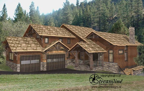 Lottinville Timber Frame Plans 4459sqft Streamline Design