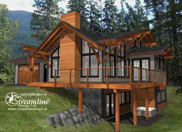 Emma Lake Timber Frame Plans 3937sqft Streamline Design