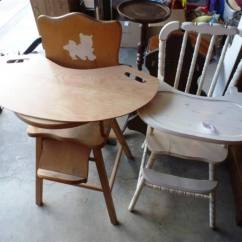 Stylish High Chair White Leather Office Uk 1 Jenny Lind Style Vintage Antique Wood