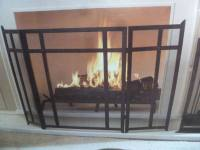 Allen + Roth craftsman style fireplace screen , oil-rubbed ...