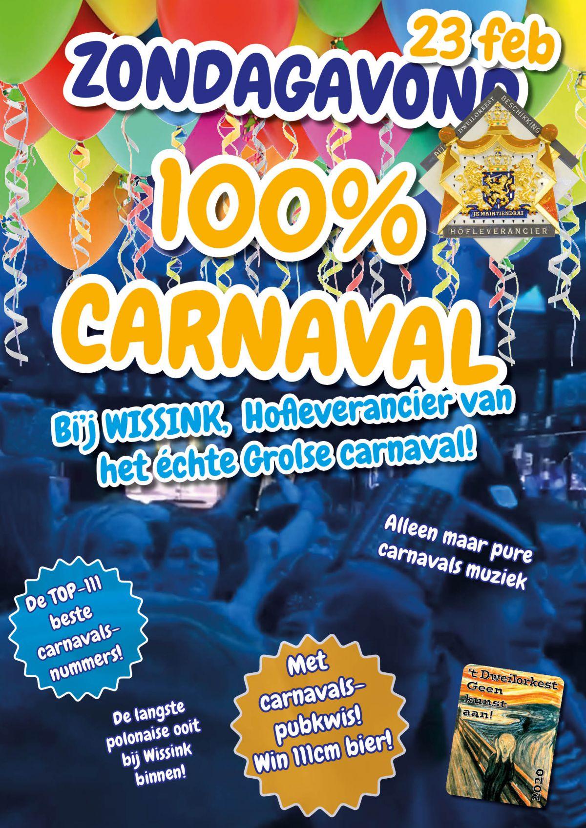 Carnavalsavond bij Wissink