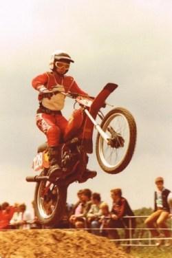 Luc op zijn 125 cc Honda begin jaren 80