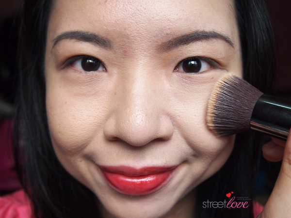 Colours Cosmetics Malaysia Flat Top Foundation Brush using with Liquid Foundation 2