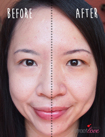 Estee Lauder Futurist Aqua Brilliance Compact Makeup Before and After