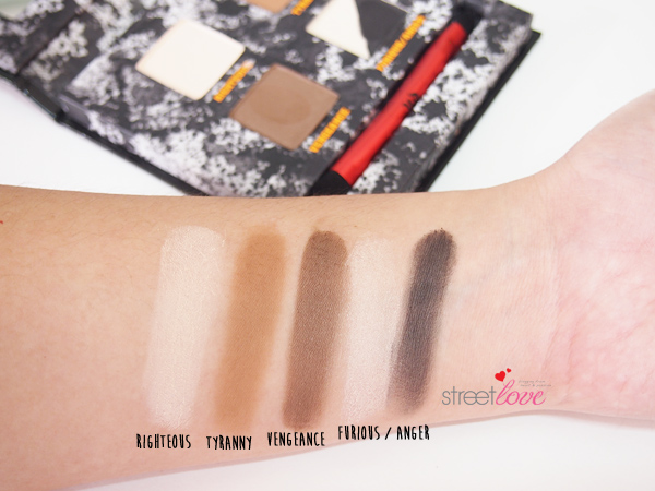 Urban Decay Pulp Fiction Eyeshadow Palette Swatches