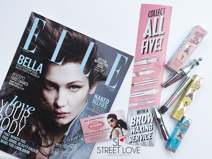 Elle Malaysia August 2016 x Benefit Cosmetics Brow Collection 1