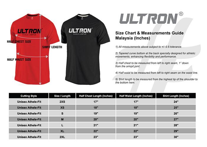 Ultron Size Chart