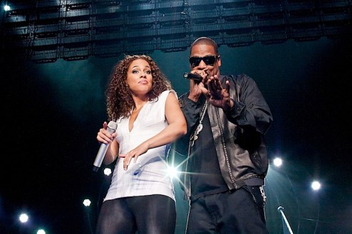 alicia keys performs at madison square garden with special guest jay-z