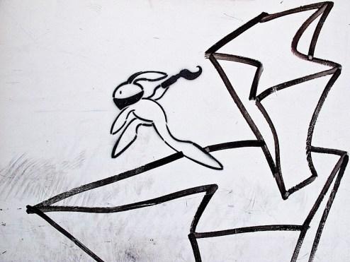 street art by bunny bin laden