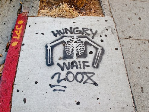 hungry waif street art SF