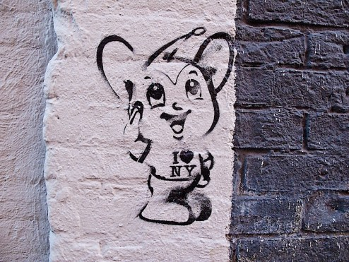 i love NY mouse street art