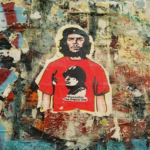 mussolini the original che street art found in NYC