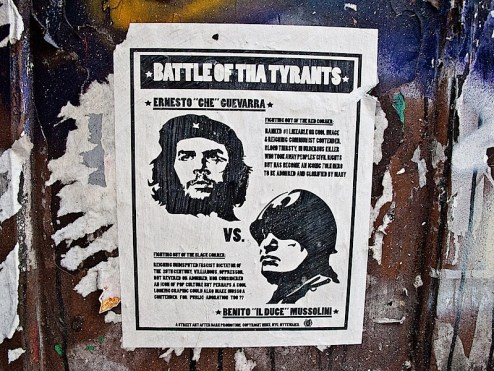 che vs mussolini street art in NYC