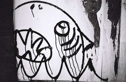 land shark street art in NYC