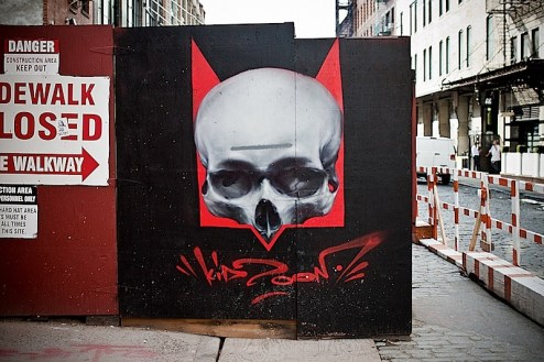 kid zoom street art in the meatpacking district of NYC