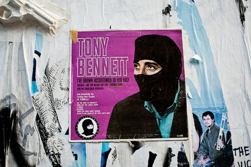 tony bennett street art by the antagonist movement in NYC