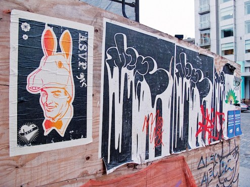 street art by alec and ASVP in the meatpacking district of NYC