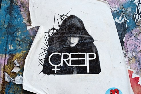 street art by creep in soho, NYC