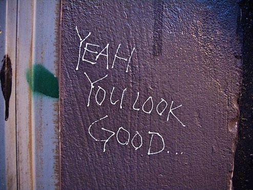yeah you look good street art