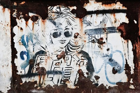 street art by faile(?) in williamsburg, brooklyn
