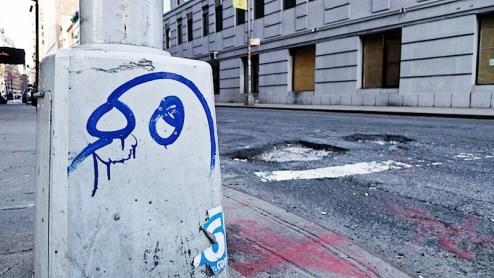 Street art by Cern in SoHo, NYC