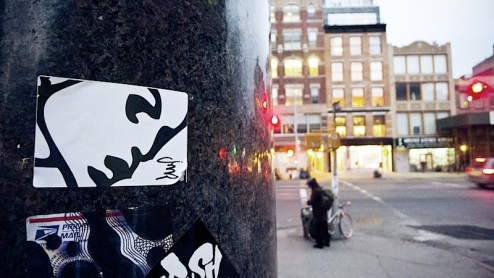sticker art by JMP in NYC