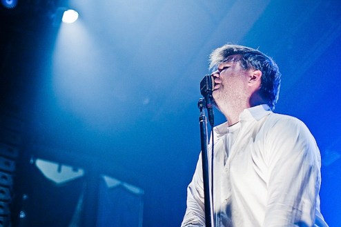 james murphy of lcd soundsystem performs at webster hall in nyc
