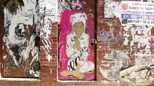 street art by elle in williamsburg brooklyn nyc